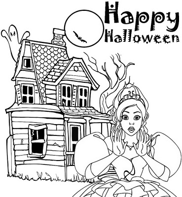 Happy Halloween Coloring Pages 10