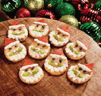 aperitivos-canapes-navidad-crackers-papa-noel