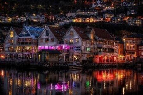 paisajesnoche en noruega