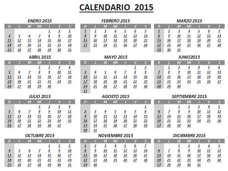 Calendarios 2015 para imprimir o compartir – Imágenes para whatsapp