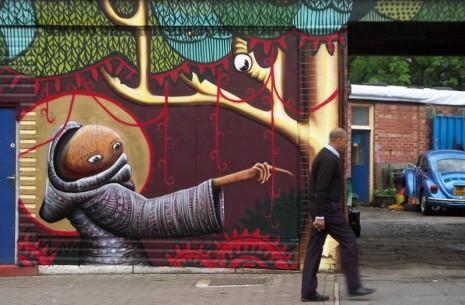 callejerosEl asombroso arte callejero de Phlegm (Flema) 01