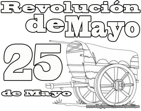 Dibujos Para Pintar El De Mayo El Pueblo En El Cabildo ...
