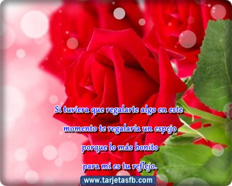 rosas con frases para facebook