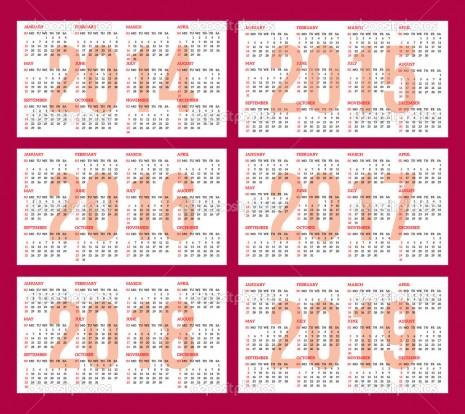 Calendarios 2016 A 2019