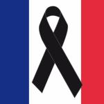 Descargar bandera de Francia de luto gratis: Lazos de duelos