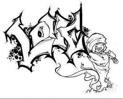 graImágenes,de,Graffitis,para,Colorear,12