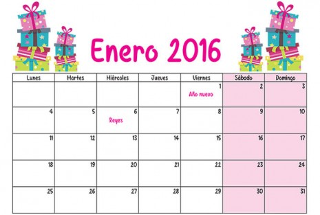 Calendario 2016 mes a mes del calendario puro pelo: Almanaques para ...