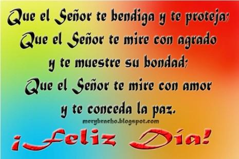 daaFeliz Día Dios te bendiga y te proteja te de paz