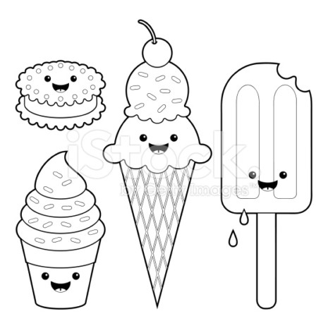 kawstock-illustration-11334762-ice-cream-fun-kawaii-coloring-set