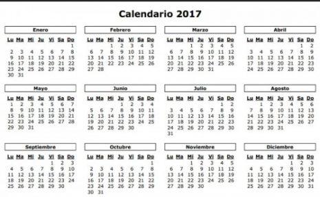 Calendarios 2017-2018 para descargar y compartir en el 2017 ...