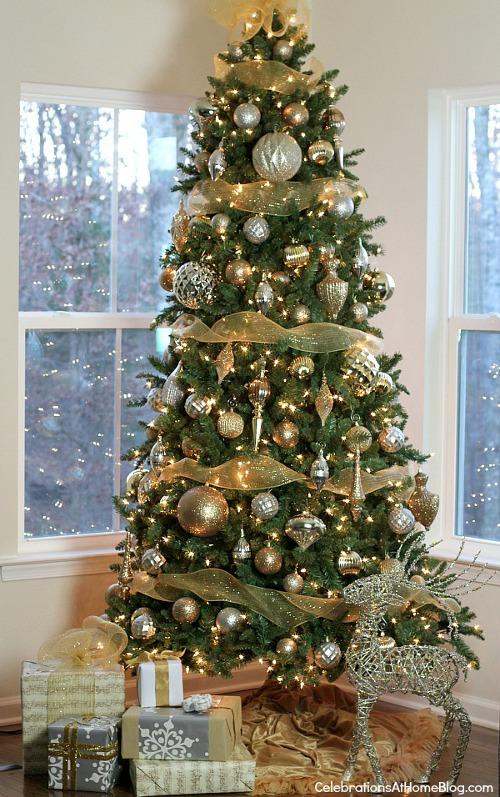 Ideas Decorar Arbol Navidad 11 Estilo Dorado Arbol Navidad