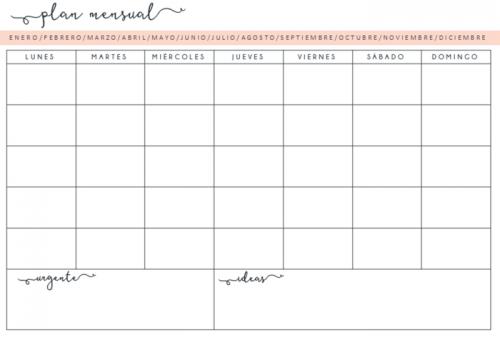 Calendario 2017 mes a mes – Almanaques para descargar o para ...
