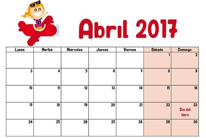 Calendario 2017 mes a mes almanaques para descargar o - Calendario 2017 para imprimir por meses ...