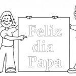 Imágenes del día del padre para colorear y dedicar
