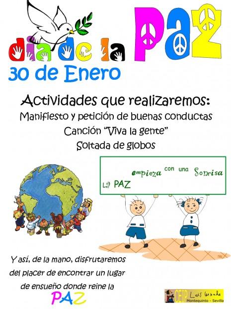 Cartel dia de la paz