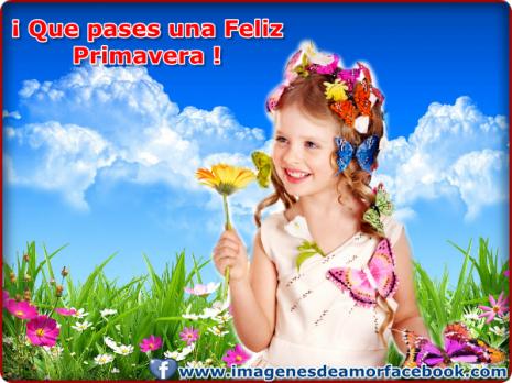 postales de feliz primavera para facebook