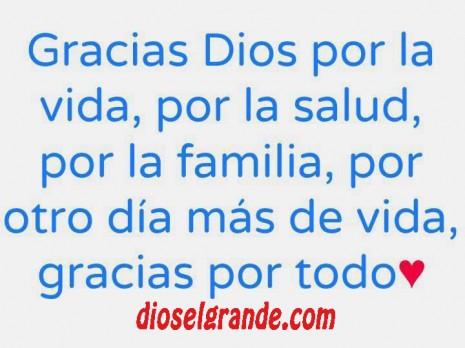 Frases para agradecer a Dios.