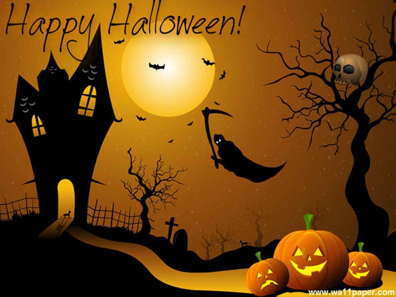 Happy-Halloween-Orange-Wallpaper