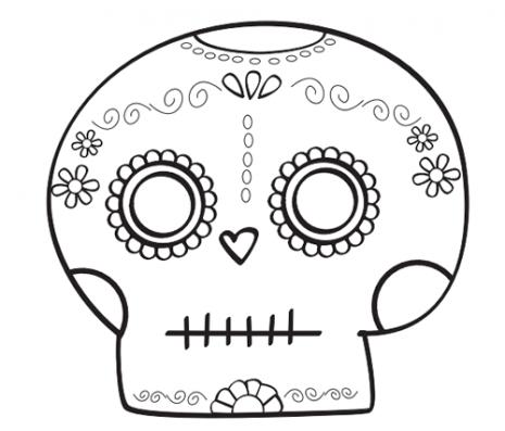 Esqueletos Tipo Mexicanos Catrinas Y Calaveras Para Pintar