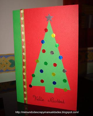 Manualidades tarjetas navideas centros de mesa navideos coronas
