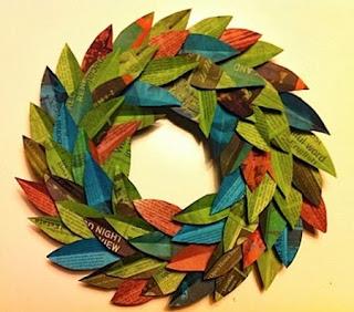 Corona diario cortado con diseño de hojas y teñido