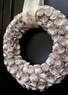 Coronas flores de papelde diario