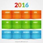 Calendarios artisticos para WhatsApp 2016