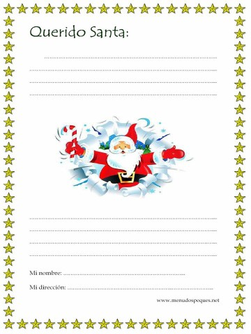 33 Cartas a Papá Noel e imágenes de Santa Claus para descargar ...