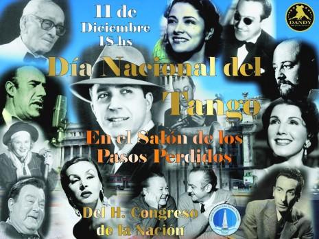 afiche dia del tango en el congreso