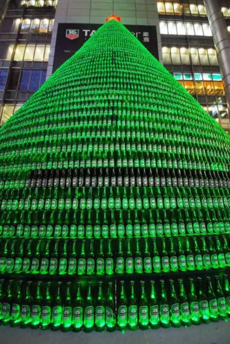 arbolbotellas de cerveza
