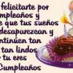 Mensajes cortos de Cumpleaños para dedicar a cumpleañeros: Imágenes para WhatsApp