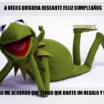 Imágenes de rana René con frases chistosas de Felíz Cumpleaños