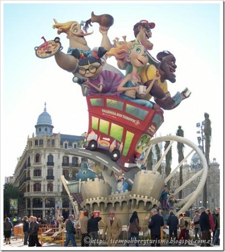 monumentos infantiles de las fallas de Valencia