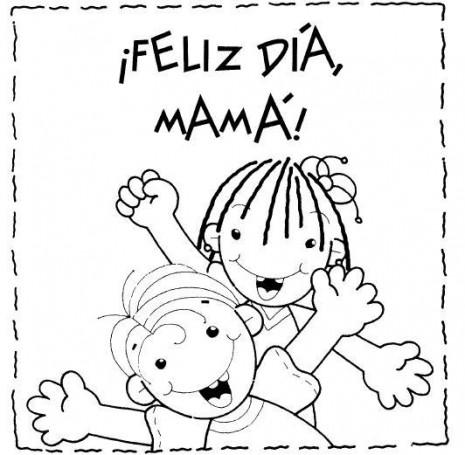 Dibujos bonitos de Felíz Día de la Madre para descargar, imprimir y ...