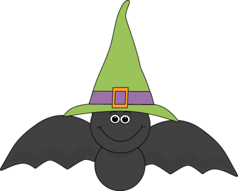 Bat-Wearing-Witches-Hat-Clip-Art-Image