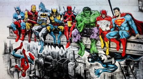 comicssuperhero-marvel-dc-graffiti