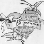 Graffitis de corazones chidos de amor a lápiz : Imágenes para descargar