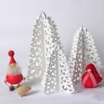 Arboles de Navidad de papel y de bajo costo: Ideas de Navidad recicladas