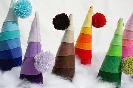 arboles-de-navidad-con-papel-crepe