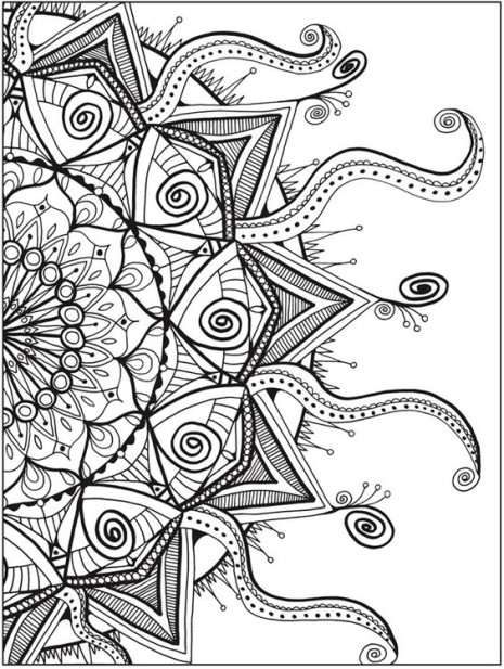 geometric coloring pages advanced nature - photo#43