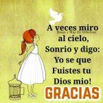 Imágenes con frases de motivación cristiana y mensajes bonitos de agradecimiento a Dios para compartir