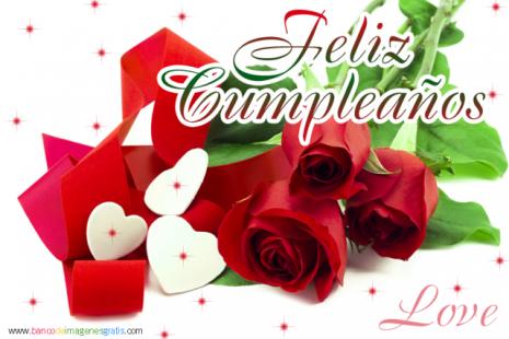 Imagenes de rosas hermosas con frases de feliz cumpleanos