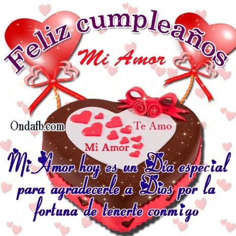 Bellas Imágenes De Felíz Cumpleaños Mi Amor Para Dedicar Y Regalar