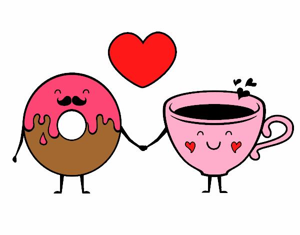 kawaiiamorla dona y su amor la taza de café