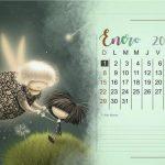 Calendario Puro Pelo 2017 mes a mes: Almanaque Puro Pelo y mensajes