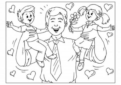 Imágenes del día del padre para colorear y dedicar | Imágenes para ...