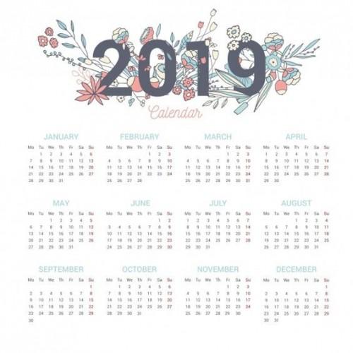 Calendario 2019 Para Imprimir.Calendarios 2019 Originales Imagenes Para Whatsapp