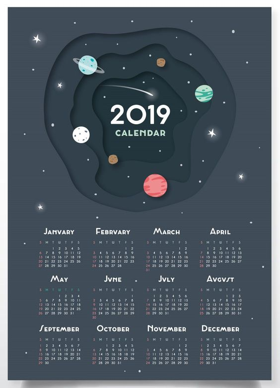 calendarios 2019 originales