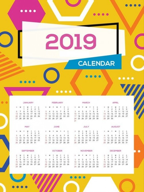 calendarios 2019 originales