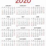 Calendarios 2020 originales para imprimir